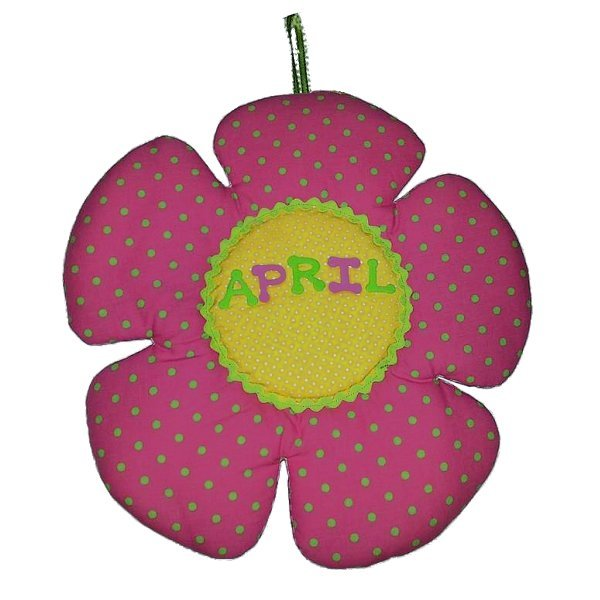 Image 0 of Flower Personalized Kids Fabric Art Designs Decor Growth Charts