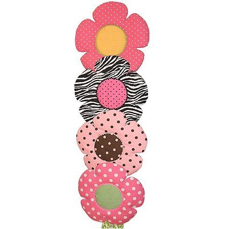 Image 1 of Flower Personalized Kids Fabric Art Designs Decor Growth Charts