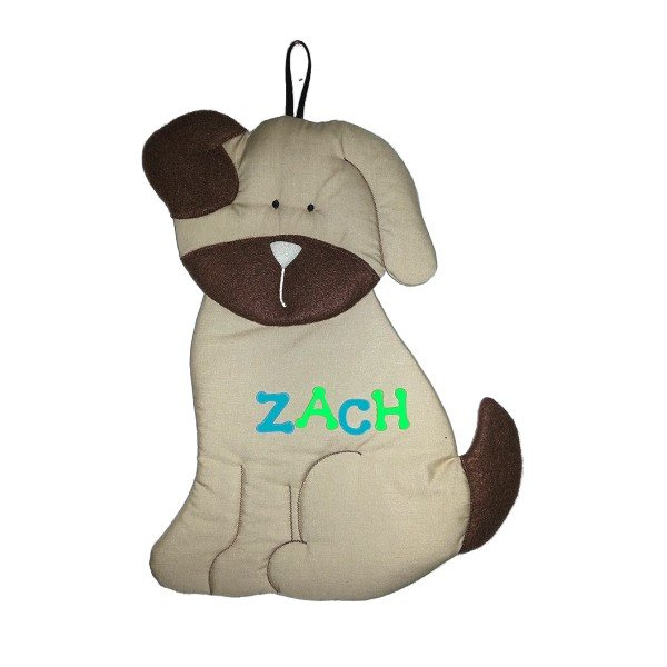 Image 0 of Puppy Personalized Kids Fabric Art Designs Decor Growth Charts