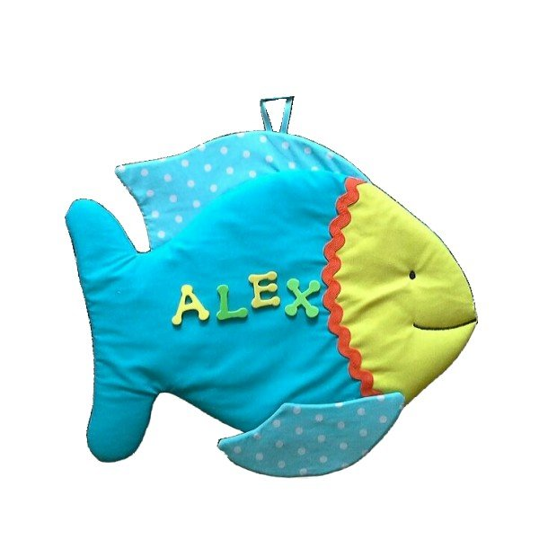 Image 0 of Fish Personalized Kids Fabric Art Designs Decor Growth Charts