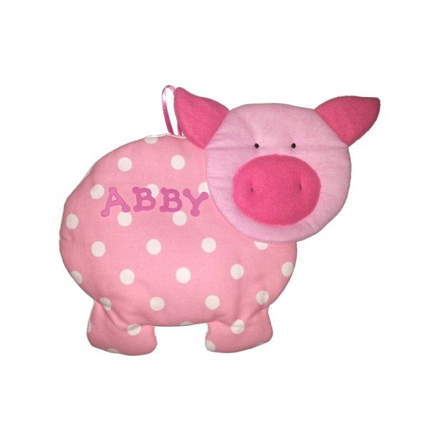 Image 0 of Pig Personalized Kids Fabric Art Designs Decor Growth Charts