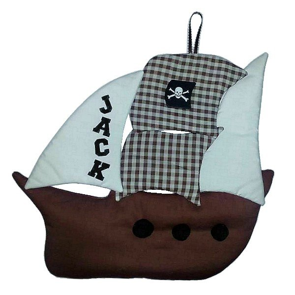 Image 1 of Pirate Personalized Kids Fabric Art Designs Decor Growth Charts