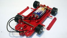 Hobby slot racing chassis