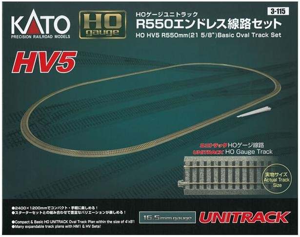 KATO UNITRACK  HO Basic Oval Track Set 3-115
