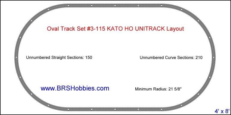 Image 1 of KATO UNITRACK  HO Basic Oval Track Set 3-115