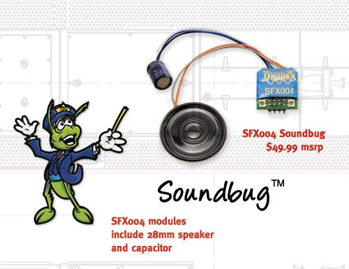 Digitrax SFX04 HO Soundbug Decoder