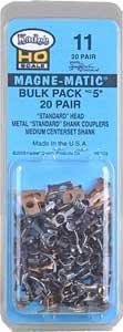 Kadee HO  # 5 Metal Couplers Bulk Pack (40)