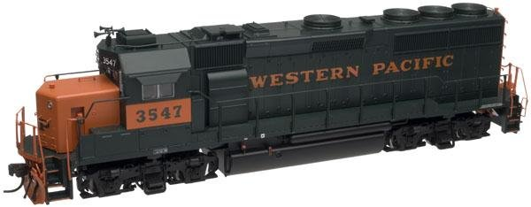Atlas HO Silver Series GP40-2 Phase 2 Locomotive Western Pacific 3547