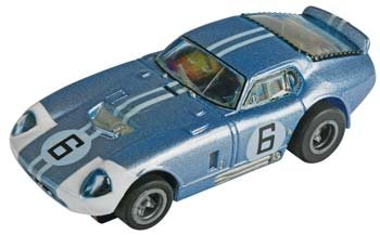 AFX Mega-G Cobra Daytona Coupe #6 HO Slot Car - CLEAR #70341