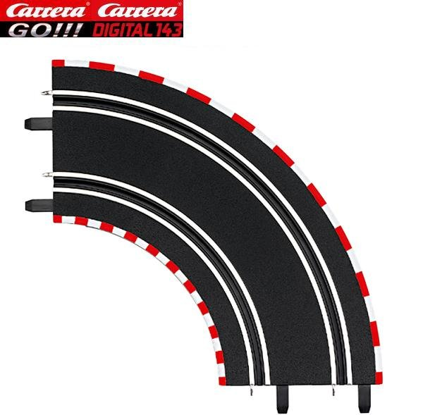 Carrera GO/DIGITAL 143 1/90° Curves (2) 61603