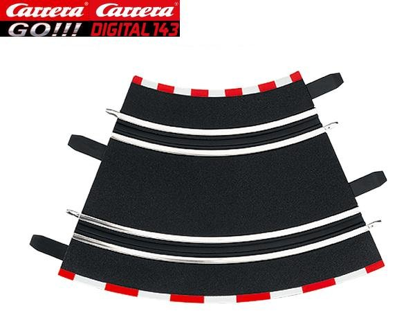 Image 0 of Carrera GO/DIGITAL 143 1/45° Curves (4) 61611