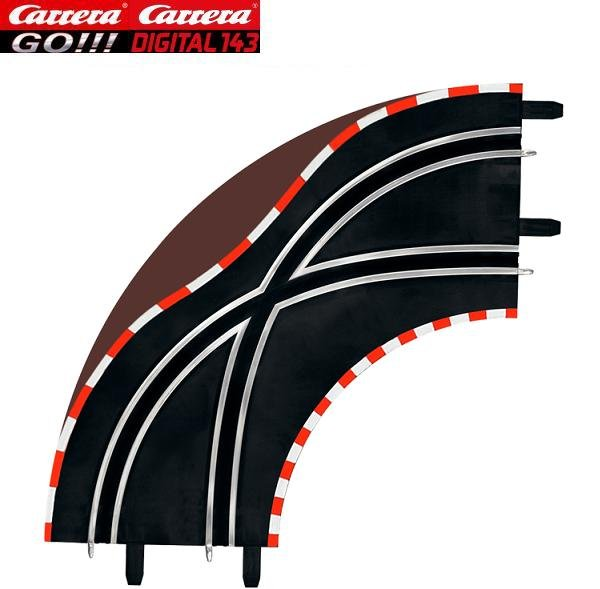 Carrera GO/DIGITAL 143 1/90° Lane Change Curves (2) 61655