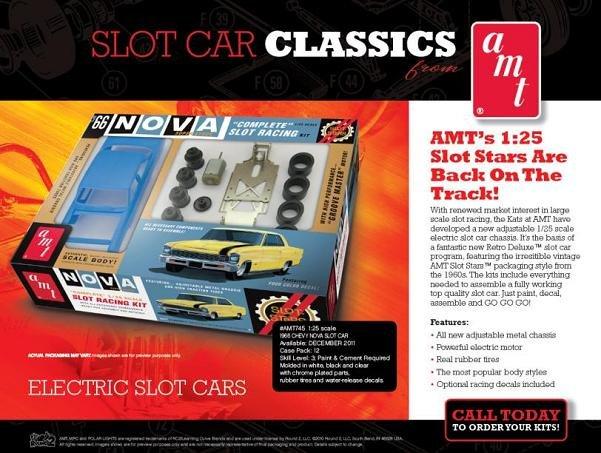 AMT 1966 Chevy Nova SS 1/25 Slot Car Kit