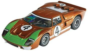 AFX Mega-G Ford GT40 #4 Donohue HO Slot Car - CLEAR 70340