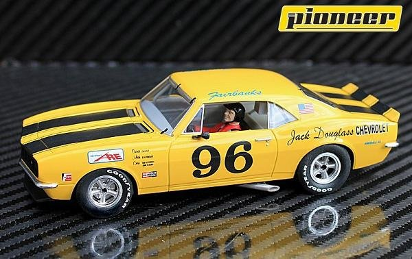 Image 1 of Pioneer 1967 Chevrolet Camaro Z-28 Trans-Am #96 1/32 Slot Car P041