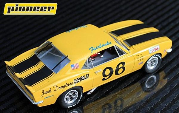 Image 2 of Pioneer 1967 Chevrolet Camaro Z-28 Trans-Am #96 1/32 Slot Car P041