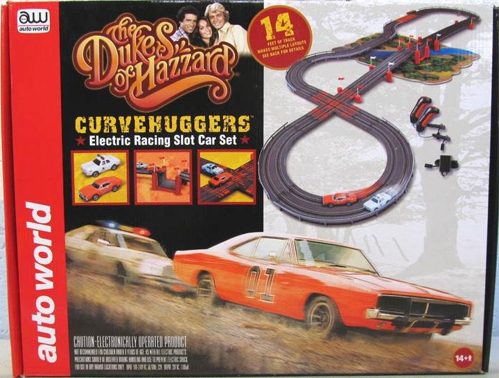 Auto World Dukes of Hazzard Curvehuggers HO Race Set
