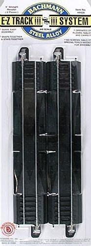 Bachmann 9'' Straight Rerailer HO Scale E-Z Track (2) 44428