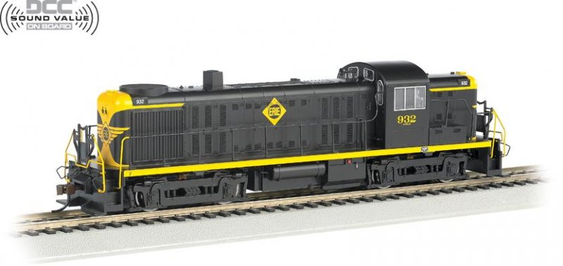 Bachmann HO ALCO RS-3 Locomotive Erie 932