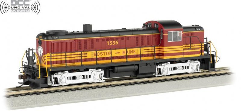 Bachmann HO ALCO RS-3 Locomotive Boston & Maine 1536