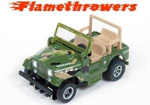 Auto World Flamethrowers X-Traction Ultra-G Jeep CJ-5 - Camo
