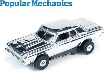 Auto World ThunderJet Ultra-G 1964 Dodge 330 HO Slot Car - Chrome