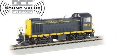 Bachmann HO ALCO S-2 Switcher Locomotive Santa Fe 2354