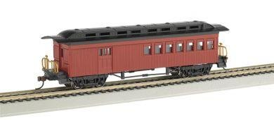 Bachmann HO 1860-1880 Passenger Car Combine - Painted, Unlettered (Red)