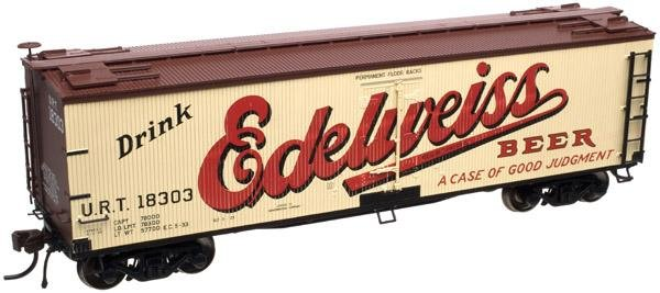 Atlas HO 40' Wood Reefer Edelweiss Beer 18303