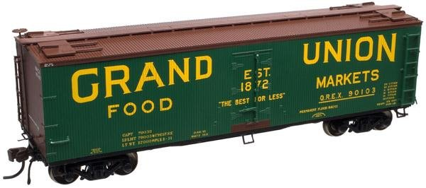 Atlas HO 40' Wood Reefer Grand Union 90104