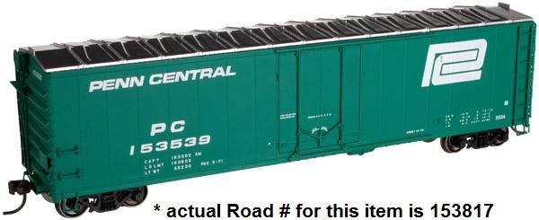 Atlas HO 50' Plug Door Box Car Penn Central 153817