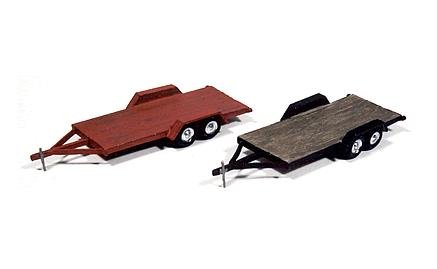 JL Innovative Vintage Wood Deck Tandem Trailer 923