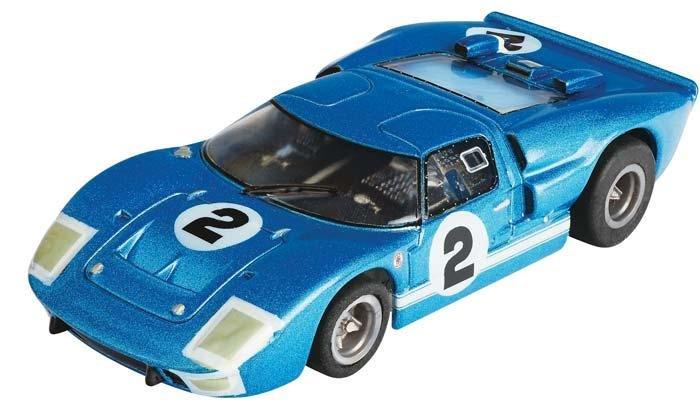 AFX Mega-G Ford GT40 #2 Sebring HO Slot Car 21006