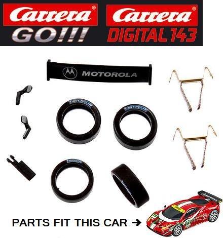 Carrera Go Slot Car Parts   Double Contact Brushes