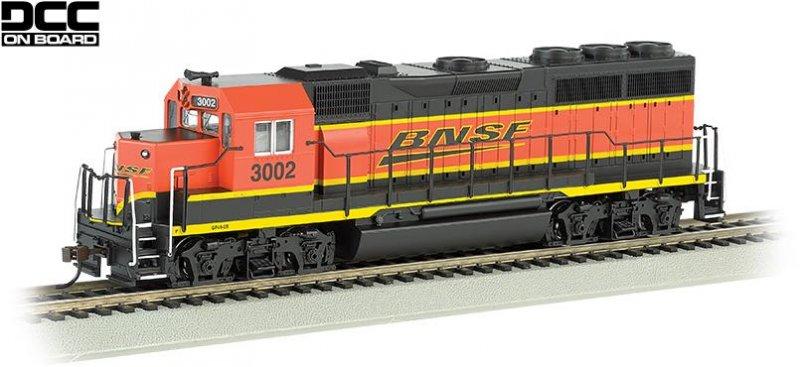 Bachmann HO EMD GP40 Diesel Locomotive BNSF 3002