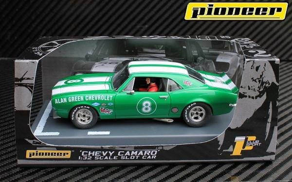 Pioneer Camaro Z-28 Trans-Am Al Green Chevrolet Club Sport #8 1/32 Slot Car P047