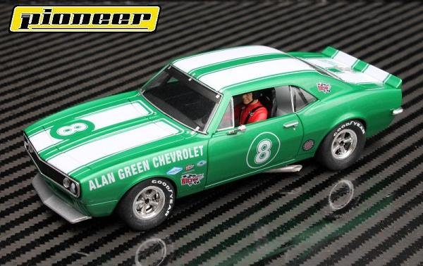 Image 1 of Pioneer Camaro Z-28 Trans-Am Al Green Chevrolet Club Sport 1/32 Slot Car P047