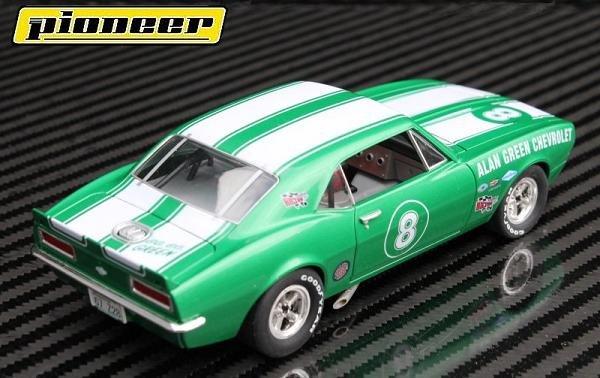 Image 2 of Pioneer Camaro Z-28 Trans-Am Al Green Chevrolet Club Sport #8 1/32 Slot Car P047