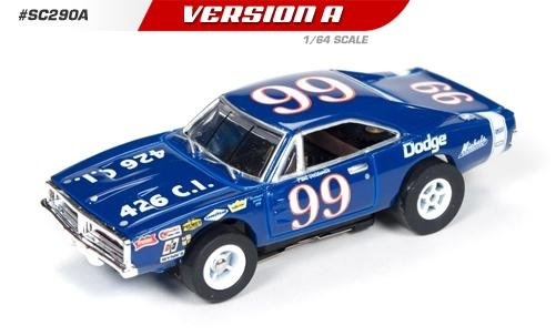 Auto World X-Traction 1969 Dodge Charger Paul Goldsmith HO Slot Car