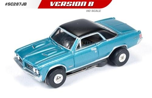Auto World ThunderJet Ultra-G 1964 Pontiac GTO HO Slot Car - Blue