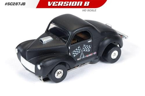 Auto World ThunderJet Ultra-G 1941 Willys Gasser HO Slot Car - Black