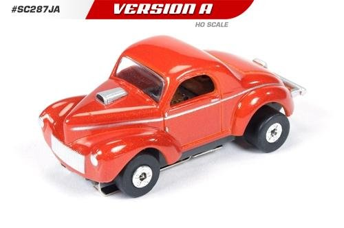 Auto World ThunderJet Ultra-G 1941 Willys Gasser HO Slot Car - Red