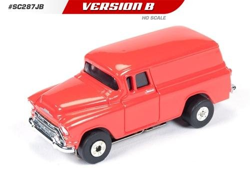 Auto World ThunderJet Ultra-G 1957 Chevy Suburban HO Slot Car - Red