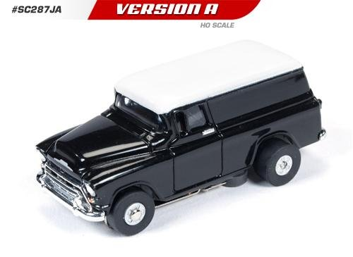 Auto World ThunderJet Ultra-G 1957 Chevy Suburban HO Slot Car - Black