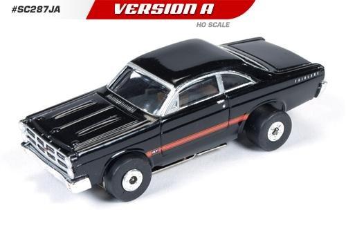 Auto World ThunderJet Ultra-G 1967 Ford Fairlane HO Slot Car - Black