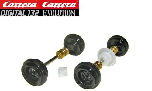 Carrera DIGITAL 132/Evolution Historic NASCAR Front & Rear Axles 89702