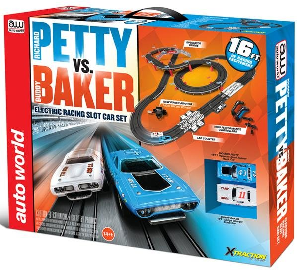 Auto World Petty vs Baker HO Race Set