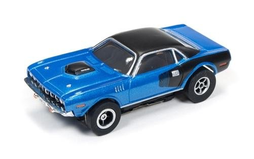 Auto World X-Traction 1971 Plymouth Cuda HO Slot Car - Blue
