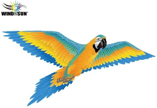 3D Blue Macaw Nylon Kite