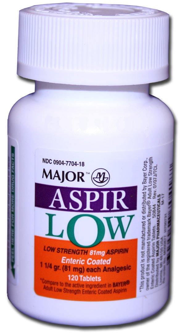 81 mg of aspirin
